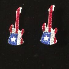 Stars and stripes guitar cufflinks