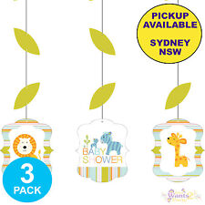 Jungle Zoo Animal Baby Shower 1st Party Supplies Hanging Cutout Decorations