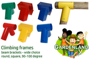 2x SQUARE or ROUND climbing frames BEAM BRACKETS wall connectors 16 types