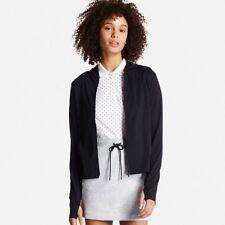 UNIQLO Women's AIRism UV Cut Long Sleeve Mesh Hoodie Jacket Black BNWT XS