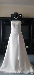 White wedding dress size 10