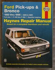 FORD PICK-UP and BRONCO 1980 to 1996 Repair Manual - HAYNES - HSP1117