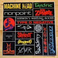 2000s Crank it Up Nascar Promo Sticker Sheet Type O Negative Slipknot Slayer