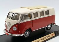 Road Signature 1/18 Scale 92328 - 1962 Volkswagen Microbus - Brown/White