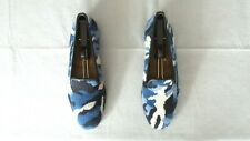 """RARE! Men's $525 Stubbs & Wootton Needlepoint """"CAMO"""" Loafers Slippers Shoes 9"""