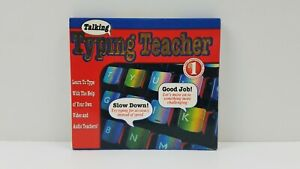 Cosmi Talking Typing Teacher PC CD Video Coaching Learn To Type Free Shipping