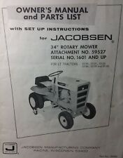 "Jacobsen Chief LT-700 860 75 750 Lawn Tractor 34"" Mower Owner & Parts Manual"