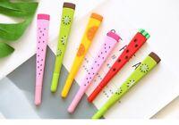 Gel pen 24 pcs/Lot 0.5mm Nib Black Fruit Color Ink Cute Office School Supplies