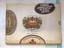 Slipcased 1977 1st Edition, A Small Appreciation Of Havana Cuban Cigars HB