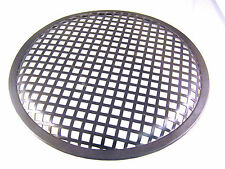 "Speaker Grill 10"" Black Steel Lattice with a Rubber Surround LSG10B OM1044"