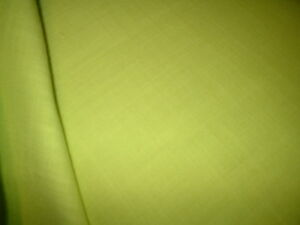 WOW NATURAL FIBRES  yellowy  GD WEIGHT FAB QUALITY  LINEN BLEND FABRIC 140CM