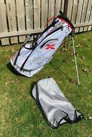 Callaway RAZR Lite Golf Stand Bag w/ Dual Strap - 5 Way Divider - White