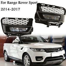Front Bumper LED Fog Light Grille Trim Bezel Fit For Range Rover Sport 2014-2017