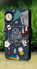 It's Only A Dream Alice In Wonderland Carcasa Móvil Cuero Funda Con Tapa L903