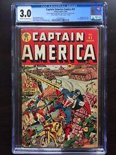 CAPTAIN AMERICA COMICS #41 CGC GD/VG 3.0; CM-OW; rare; last Japanese WWII cvr!