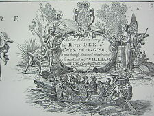 VINTAGE 1753 FACSIMILIE COASTAL CHART/MAP RIVER DEE HYLE SAND BURBO HORSE CHANNE