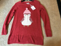 LC Lauren Conrad Holiday Cute Christmas Sweater Penguin Winter XSmall XS NWT