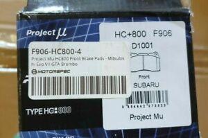 Project MU HC+800 Mitsubishi EVO VII Brembo Front Brake Pads