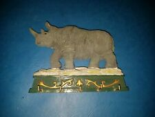RESIN RHINOCEROS KEY HOOK EXCELLENT CONDITION