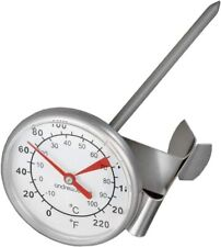 Andrew James Milk Thermometer Stainless Steel With Clip Easy to Read Clear Dial