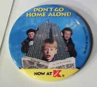 Vintage 90s Rare Home Alone 2 At K Mart On Video Movie Pinback htf Old Button