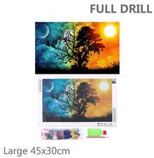 US Full Drill Tree Scenery 5D Diamond Painting Cross Stitch DIY Kit Decor Large