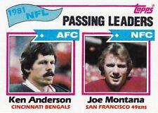 1982 Topps #257- Passing Leaders - Ken Anderson - Joe Montana - Bengals - Mint