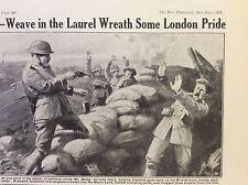 a1l ephemera 1917 ww1 picture british london regiment clear sniper nest