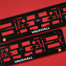 NEW PAIR VAUXHALL BLACK NUMBER PLATE SURROUNDS HOLDER FRAME Trim FOR Any CAR