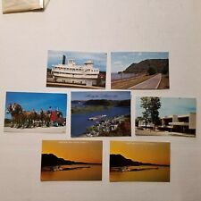VINTAGE WINONA MINNESOTA MISSISSIPPI RIVER BARGE BLUFFS POSTCARDS