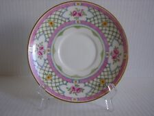 """Minton """"Queen'S Trellis"""" Tea Cup Saucer Only - Hand Painted Numbered England"""