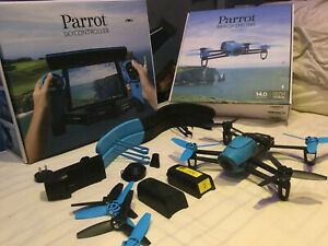 Parrot BebopDrone with SkyController 1080p Full HD 14MP ( IN ORIGINAL BOX ) Blue