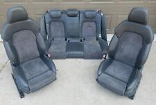 09-16 Audi A4 S4 Sline Front / Driver / Passenger/ Rear Alcantara Seats S-line