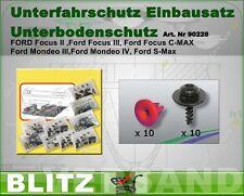 Unterfahrschutz Einbausatz Unterboden Repair Kit CLIPS ,FORD MONDEO    90228