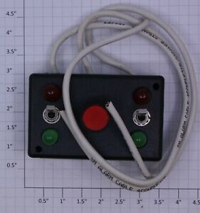 """Acme 1105-X Red Button Switch Controller With 8"""" Length Cords"""