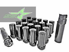 24 BLACK SPLINE LUG NUTS FITS ALL 6 LUG CHEVY GMC 14X1.5 TRUCKS 6X5.5 | 6X139.7