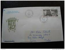 TAAF lettre 1/1/90 - timbre - yvert et tellier aerien n°111 (cy5)