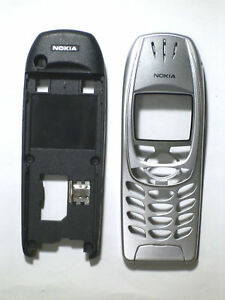 Silver Fascia case housing Cover Facia faceplate for Nokia 6310i 6310