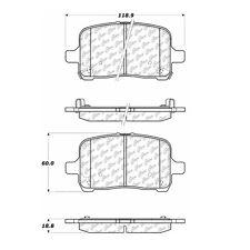 Centric Parts 105.10280 Front Super Premium Ceramic Brake Pads