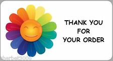 24 x Personalised Stickers Rainbow Flower Thank You Order, Party, Address,Labels