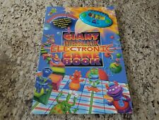 "1997 Giant Intergalactic Electronic Game Board Book - 15"" x 23"" - Tested"