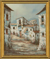 Javier Pascuale - Signed & Framed Contemporary Oil, Continental Street Scene
