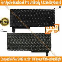 EMC 2324 2325 MacBook Pro A1286 UK Keyboard Year Mid-2009 to 2012 No-Backlight