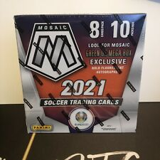 More details for 2020/21 panini euro2020 mosaic mega box sealed in hand gold parallels + autos!