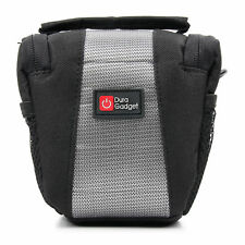 Black & Grey Nylon Carry Case Bag for Sony ILCE-QX1, QX10 Lens Style Camera