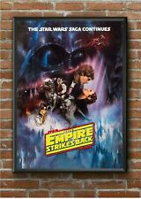 STAR WARS The Empire Strikes Back A4 BORDERLESS Poster Print * LAMINATED *
