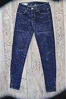 jeans 7/8 slim denim zip cheville MARLBORO CLASSICS taille W25 EXCELLENT ÉTAT