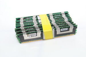 LOT OF 10 Kingston KVR533D2S8F4/512 512MB DDR2-533 Fully Buffered Memory