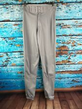 Easton Gray Baseball Pants Size Adult Extra Small (XS) Polyester Elastic Ankle