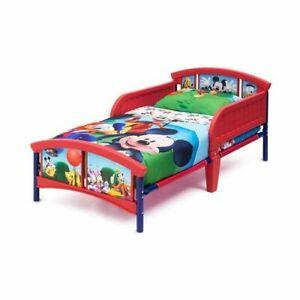 Beds for Toddler Children Plastic Disney Mickey Mouse Novelty Bed for Boys Girls